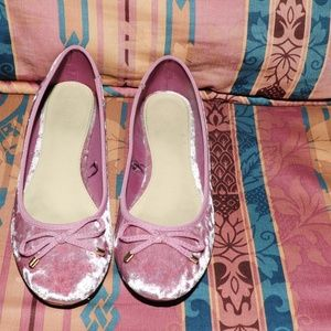 Forever 21 Pink Crushed Velvet Ballet Flats 10